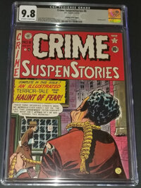Crime SuspenStories #6 - HIGHEST GRADED CLASSIC (EC, 1951) CGC NM/MT 9.8 Off-white to white pages