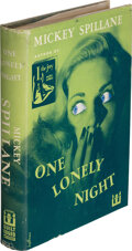 Books:Mystery & Detective Fiction, Mickey Spillane. One Lonely Night. New York: 1951. First edition. Inscribed by the author to Otto Penzler....