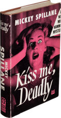 Books:Mystery & Detective Fiction, Mickey Spillane. Kiss Me, Deadly. New York: 1952. First edition. Inscribed by the author to Otto Penzler....