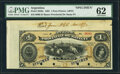 World Currency, Argentina Banco Provincial de Santa Fe 1 Peso 1.1.1882 Pick S826s Specimen PMG Uncirculated 62.. ...