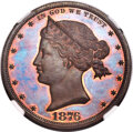 Patterns, 1876 $1 Sailor Head Dollar, Judd-1465, Pollock-1616, R.7, PR67 Red and Brown NGC....