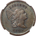 Half Cents, 1795 1/2 C Lettered Edge, Punctuated Date, C-2a, B-2a, R.3, MS61 Brown NGC....