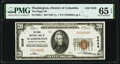 Washington, DC - $20 1929 Ty. 1 The Riggs National Bank Ch. # 5046 PMG Gem Uncirculated 65 EPQ