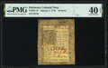 Colonial Notes:Delaware, Delaware January 1, 1776 18d PMG Extremely Fine 40 EPQ.. ...