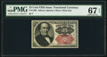 Fractional Currency:Fifth Issue, Fr. 1309 25¢ Fifth Issue PMG Superb Gem Unc 67 EPQ.. ...