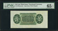 Fractional Currency:Third Issue, Fr. 1358SP 50¢ Third Issue Justice Wide Margin Back PMG Gem Uncirculated 65 EPQ.. ...