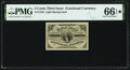 Fractional Currency:Third Issue, Fr. 1226 3¢ Third Issue PMG Gem Uncirculated 66 EPQ*.. ...