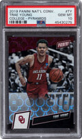 Basketball Cards:Singles (1980-Now), 2019 Panini National Trae Young (College Pyramids) #TY PSA Gem Mint 10 - #'d 8/10. ...