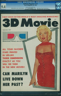 3D Movie Magazine V1#1 - HIGHEST GRADED with glasses attached! (Three-D Magazines, 1953) CGC NM 9.4