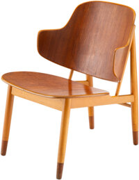 "Ib Kofod-Larsen (Danish, 1921-2003) ""Penguin"" Lounge Chair, circa 1955 Teak, beech 29-1/2 x 20 x 24-1/2 inches..."