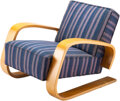 Furniture, Alvar Aalto (Finnish, 1898-1976). Tank Lounge Chair, 1940s. Laminated birch plywood, upholstery . 26 x 30 x 31-1/2 inche...