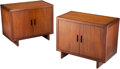 Furniture, Frank Lloyd Wright (American, 1867-1959). Pair of Taliesin Cabinets, circa 1950, Henredon. Mahogany. 25 x 31 x 17 inches... (Total: 2 Items)