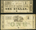 Obsoletes By State:Louisiana, Baton Rouge, LA- City of Baton Rouge $1 Jan. 2, 1862; June 18, 1862 Fine-Very Fine or Better.. ... (Total: 2 notes)