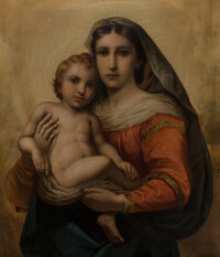 After Raphael The Sistine Madonna Oil on canvas 26 x 21 inches (66 x 53.3cm)
