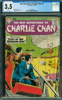 The New Adventures of Charlie Chan #4 (DC, 1958) CGC VG- 3.5 White pages