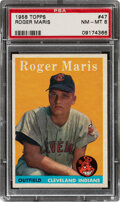 Baseball Cards:Singles (1950-1959), 1958 Topps Roger Maris Rookie #47 PSA NM-MT 8. ...