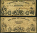 Obsoletes By State:Tennessee, Nashville, TN- Bank of Tennessee $1 Feb. 1, 1861, Two Examples Very Good or Better.. ... (Total: 2 notes)
