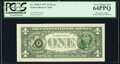 Error Notes:Third Printing on Reverse, Third Printing on Back Error Fr. 1909-F $1 1977 Federal Reserve Note. PCGS Very Choice New 64PPQ.. ...