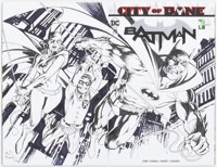 Alan Davis Batman #75 Wraparound Sketch Cover Variant Original Art (DC, 2019) CGC Signature Series NM/MT 9.8 White