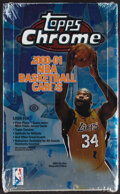 Basketball Cards:Unopened Packs/Display Boxes, 2000 Topps Chrome Basketball Unopened Hobby Box With 24 Packs....