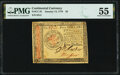 Continental Currency January 14, 1779 $5 PMG About Uncirculated 55