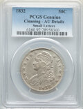 Bust Half Dollars: , 1832 50C Small Letters -- Cleaning -- PCGS. AU Details. PCGS Population: (332/1652). NGC Census: (129/1211). CDN: $245 Whsl...