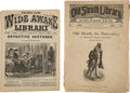 "Books:Mystery & Detective Fiction, [Dime Novels]. Lot of Two ""Dime Novel"" Detective Stories. New York: Frank Tousey [and:] George Munro, 1881, 1885. Each in or..."