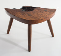 Mira Nakashima (American, b. 1942) Value of the Void, 2020 Claro walnut burl 11 x 20 x 15 inches