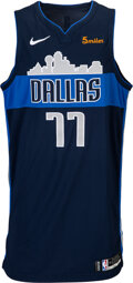 Basketball Collectibles:Uniforms, 2018-19 Luka Doncic (Doncic) Game Dallas Mavericks Rookie Jersey with Team Letter--Photo Matched!...