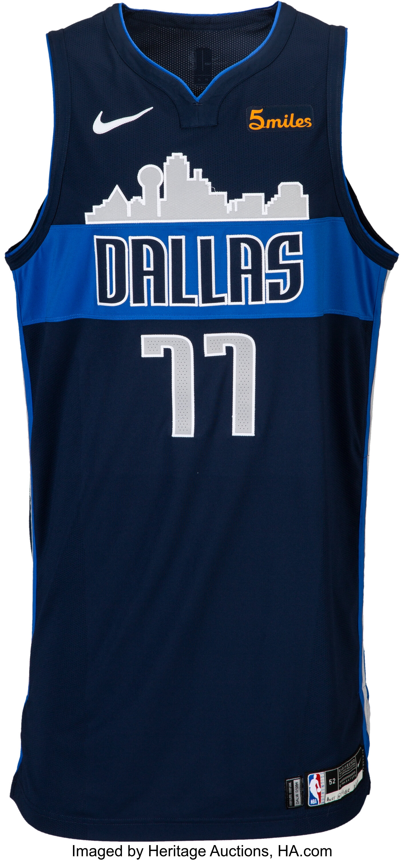 2018 19 Luka Doncic Doncic Game Worn Signed Dallas Mavericks Lot 53343 Heritage Auctions