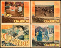 "Movie Posters:Western, Cimarron (RKO, 1931). Fine+. Title Lobby Card & Lobby Cards (3) (11"" X 14"") Fredric C. Madan Title Card Artwork.. ...."