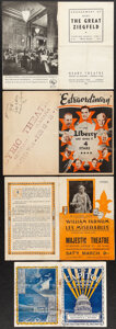 """Movie Posters:Academy Award Winners, The Great Ziegfeld at the Geary Theatre & Other Lot (MGM, 1936). Folded, Fine. Programs (2) (Multiple Pages, 6"""" X 9.5"""" & 5"""" ... (Total: 9 Items)"""
