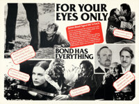 """For Your Eyes Only (United Artists, 1981). Folded, Very Fine. Marler Hayley British Quad (30"""" X 40"""")"""