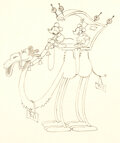 Animation Art:Production Drawing, Mickey in Arabia Mickey and Minnie Mouse Dessin d'Animation (Walt Disney, 1932)....
