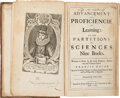 Books:Early Printing, Francis Bacon. Of the Advancement and Proficiencie of Learning: or the Partitions of Sciences Nine Books. London...