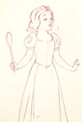 Animation Art:Production Drawing, Snow White and the Seven Dwarfs Dessin d'Animation (Walt Disney, 1937)....