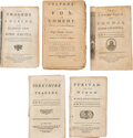 Books:Literature Pre-1900, William Shakespear[e] & B.J. [Ben Johnson]. Group of Five Plays Sold by the Booksellers of London. London: printed for J. To...