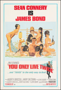 """You Only Live Twice (United Artists, 1967). Fine/Very Fine on Linen. One Sheet (27.5"""" X 41"""") Style C, Robert M..."""
