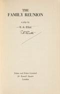 Books:Signed Editions, T. S. Eliot. The Family Reunion. A Play. London: Faber and Faber Limited, [1939]. First edition. Signed by El...