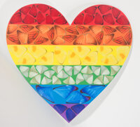 Damien Hirst, (British, b. 1965) Butterfly Heart, 2020 Laminated giclée print on aluminum composite