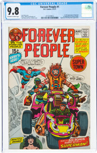 The Forever People #1 (DC, 1971) CGC NM/MT 9.8 Off-white to white pages