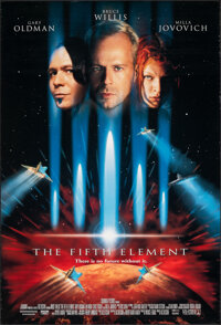 """The Fifth Element (Columbia, 1997). Rolled, Very Fine-. One Sheet (26.75"""" X 39.75"""") DS. Science Fiction"""