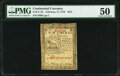 Continental Currency February 17, 1776 $2/3 PMG About Uncirculated 50