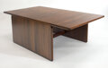 Furniture, Afra and Tobia Scarpa for B&B Italia. Coffee Table. Wood. 50 x 28 x 17 inches (127 x 71.12 x 43.18 cm). Donated by Wrigh...