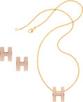 Luxury Accessories:Accessories, Hermès Set of Two: Pop H Pendant and Earrings . Condition: 1. See Extended Condition Report for Sizes.. ... (Total: 2 )