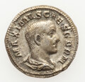 Ancients:Roman Imperial, Ancients: Maximus, as Caesar (AD 235/6-238). AR denarius (20mm, 3.15 gm, 11h). About XF, edge filing....