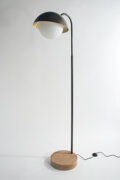 Lighting, Allied Maker (American, f. 2012). Dome Floor Lamp. Black walnut and brass. 20.5 x 14 x 68 inches (52.07 x 35.56 x 172.72...