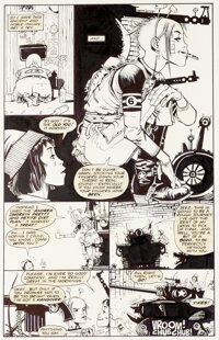 Jamie Hewlett & Peter Milligan Tank Girl: The Odyssey #1 Planches 9-10 (DC/Vertigo, 1995).... (Total: 2 Original Art...