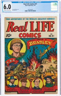 Real Life Comics #21 (Nedor Publications, 1945) CGC FN 6.0 Off-white to white pages