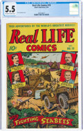 Golden Age (1938-1955):Non-Fiction, Real Life Comics #19 (Nedor Publications, 1944) CGC FN- 5.5 Off-white to white pages....